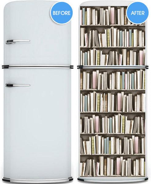 Door STICKER pastel books library cabinet mural decole - Pulaton stickers and posters  - 3