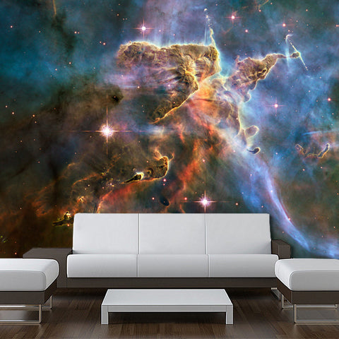 Wall Sticker MURAL space blue stars galaxy night sky decole poster - Pulaton stickers and posters  - 1