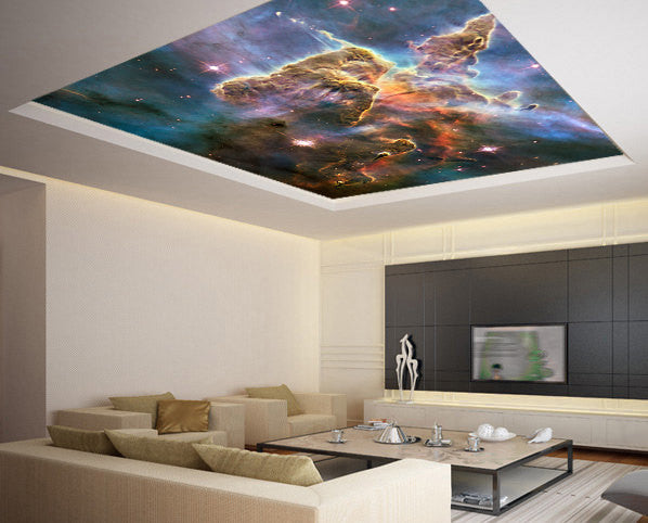 Wall Sticker MURAL space blue stars galaxy night sky decole poster - Pulaton stickers and posters  - 2