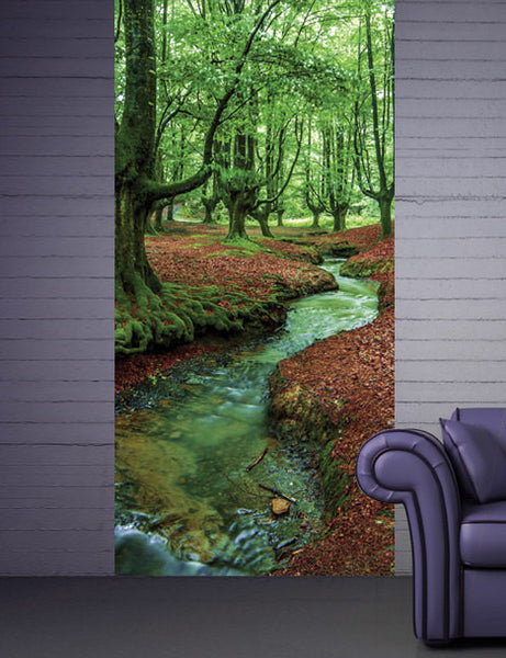 Wall Sticker MURAL forest brook stream river trees decole poster - Pulaton stickers and posters  - 1