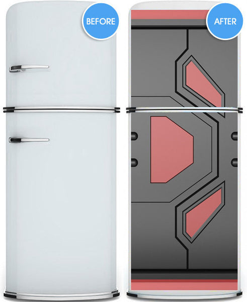 "Door STICKER futuristic gate hi-tech mural decole film self-adhesive poster 30""x79""(77x200 cm) - Pulaton stickers and posters  - 3"