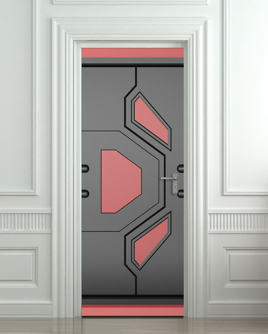 "Door STICKER futuristic gate hi-tech mural decole film self-adhesive poster 30""x79""(77x200 cm) - Pulaton stickers and posters  - 1"