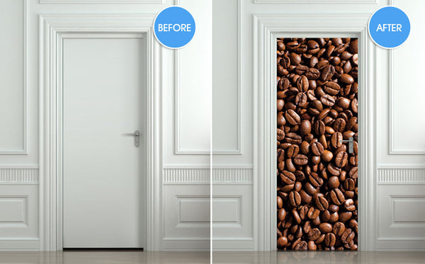 "Door STICKER coffee, cafe, turk mural decole film self-adhesive poster 30""x79""(77x200 cm) - Pulaton stickers and posters  - 2"