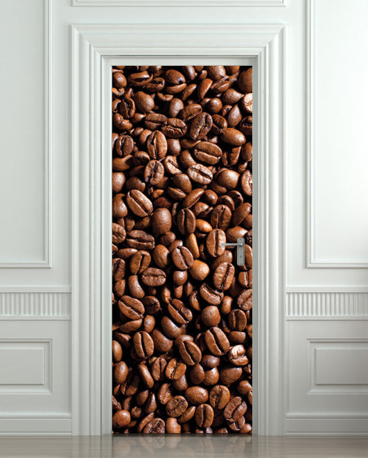 "Door STICKER coffee, cafe, turk mural decole film self-adhesive poster 30""x79""(77x200 cm) - Pulaton stickers and posters  - 1"