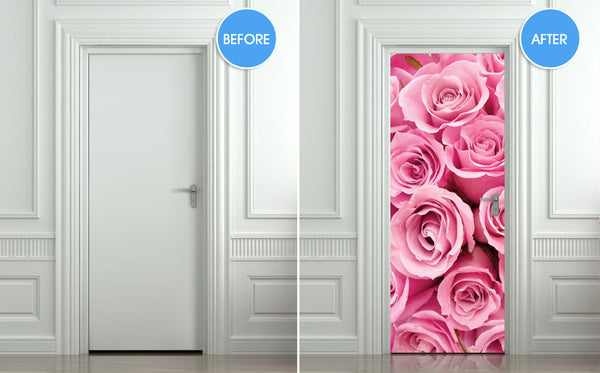 "Door STICKER rose st. valentines day mural decole film self-adhesive poster 30""x79""(77x200 cm) - Pulaton stickers and posters  - 2"