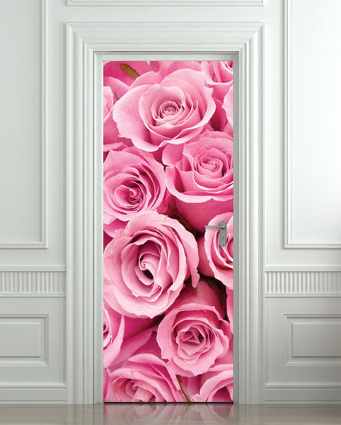 "Door STICKER rose st. valentines day mural decole film self-adhesive poster 30""x79""(77x200 cm) - Pulaton stickers and posters  - 1"