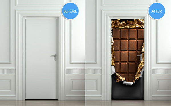 "Door STICKER chocolate sweet food mural decole film self-adhesive poster 30""x79""(77x200 cm) - Pulaton stickers and posters  - 2"