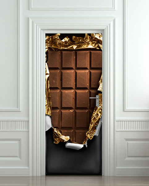 "Door STICKER chocolate sweet food mural decole film self-adhesive poster 30""x79""(77x200 cm) - Pulaton stickers and posters  - 1"