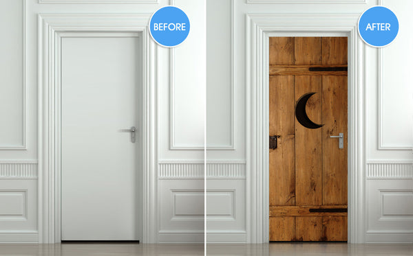 "Door STICKER outhouse closet toilet WC moon mural decole film self-adhesive poster 30""x79""(77x200 cm) - Pulaton stickers and posters  - 2"