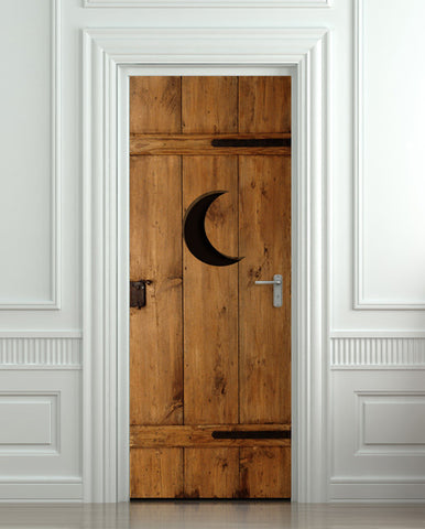 "Door STICKER outhouse closet toilet WC moon mural decole film self-adhesive poster 30""x79""(77x200 cm) - Pulaton stickers and posters  - 1"