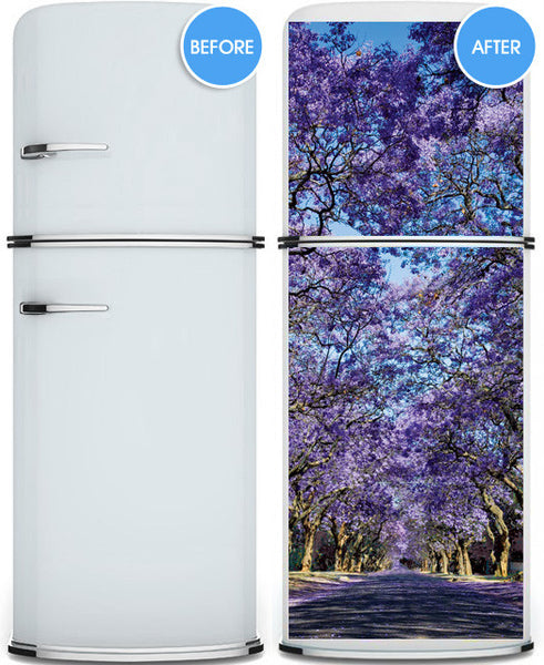 "Door Wall STICKER purple alley poster decole cover film 30""x79"" (77x200 cm)"