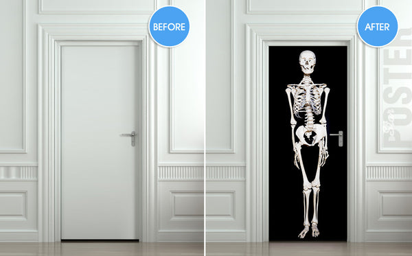"Door STICKER Halloween All Hallows Evening mural decole film self-adhesive poster 30""x79""(77x200 cm) - Pulaton stickers and posters  - 2"
