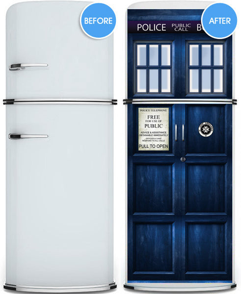 "Door STICKER Police box magical mural decole film self-adhesive poster 30""x80"" (77x203 cm) - Pulaton stickers and posters  - 3"