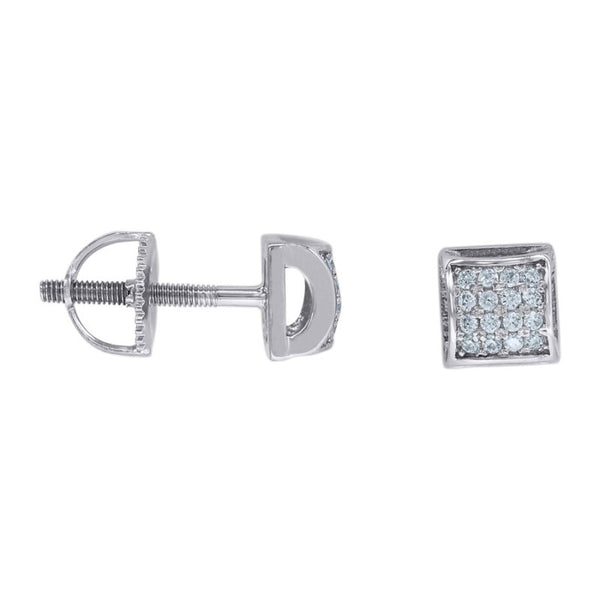 Beveled Pave Earrings