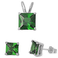 Square Emerald Solitaire