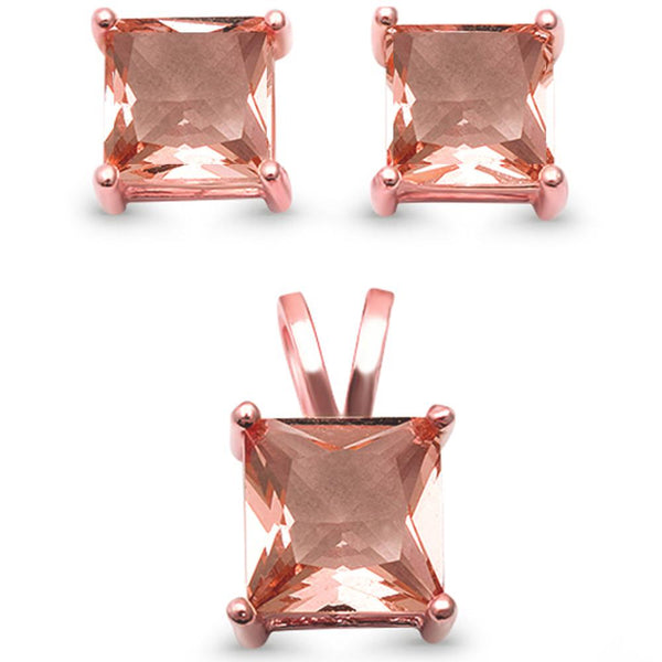 Square Morganite Solitaire