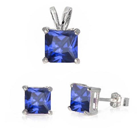 Square Tanzanite Solitaire