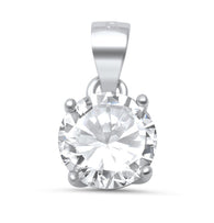 Round Solitaire Pendant Necklace