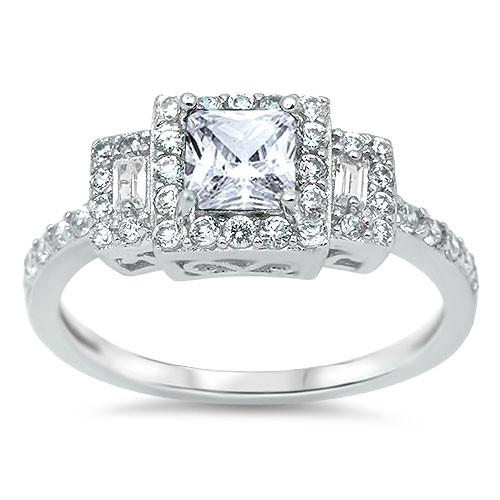 Royal Princess 3 Stone Bridal Ring