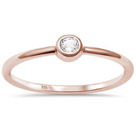 Rose Gold Simple Band Stud Ring