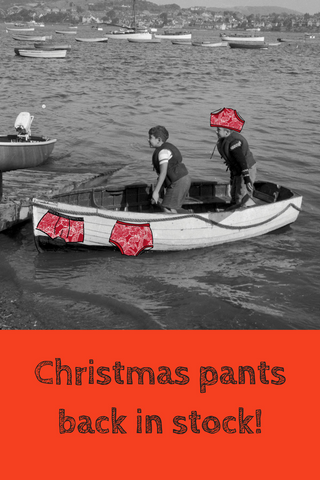 Christmas Thunderpants now back in stock!
