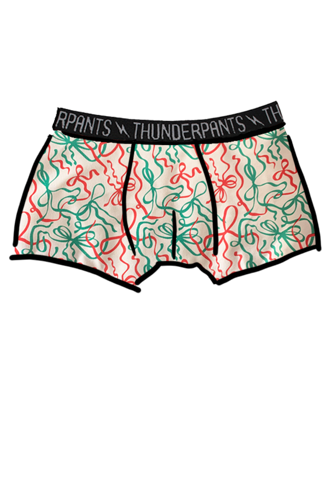 Mens Boxer Christmas Ribbons - only one XL left!