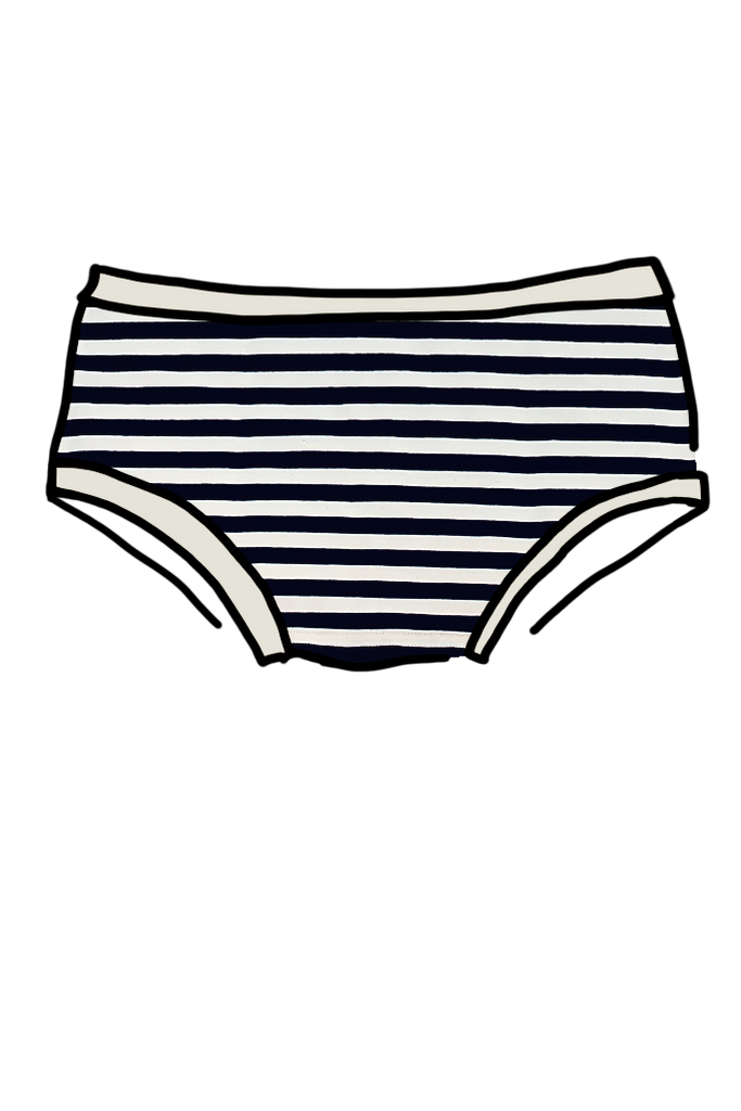 Seconds - Womens Hipster Navy Stripe small