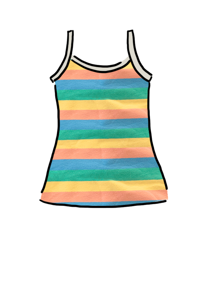 Cami Top Pastel Stripe