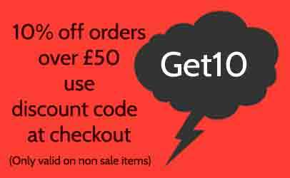 Get 10% off orders over £40 Get10