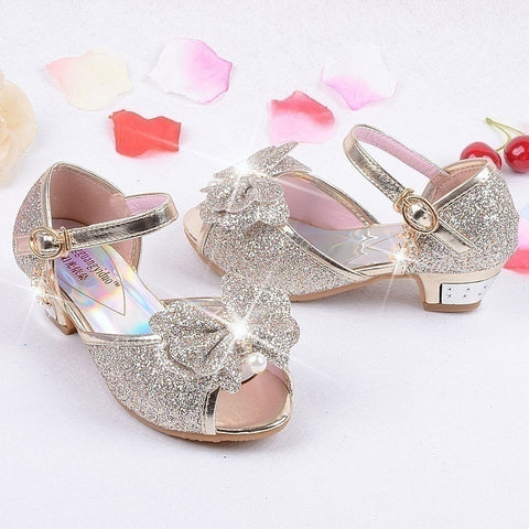 Superior ... 2018 Princess Shoes Kids Girls Wedding Shoes High Heels Dress Shoes  Party Shoes For Girls Leather ...