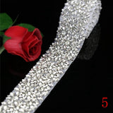1 Yard Rhinestone Appliques Trimming Belt,Bridal Applique,Wedding Accessories for Bridal Sash  Width: 2 Inches