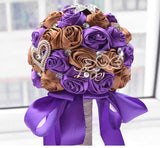 2016 in stock Stunning Wedding flowers White Bridesmaid Bridal Bouquets artificial Rose Wedding Bouquet FW139-Varnita Bridal Store