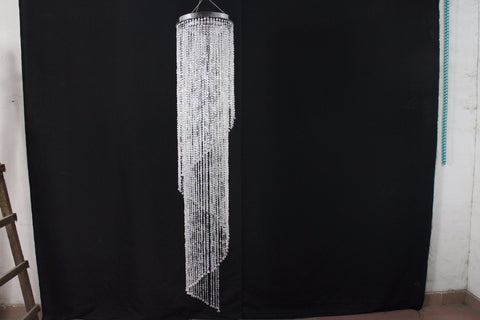 (H)120cm(4ft) (W)22cm CRYSTAL BEADED COLUMN Banquet canopy decoration 12pcs/lot-Decoration-Varnita Bridal Store