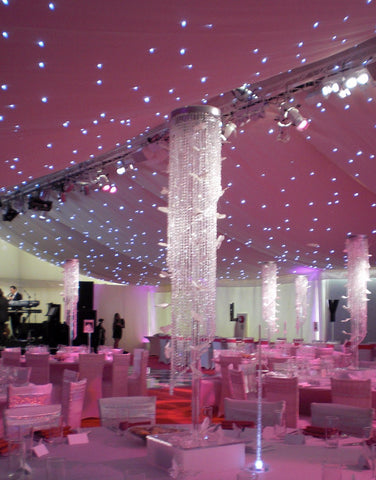(H)180cm(5.9ft) CRYSTAL BEADED COLUMN Banquet canopy decoration 4pcs/lot-Decoration-Varnita Bridal Store