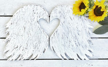 "LARGE Wooden Angel Wings-- 14"" tall"