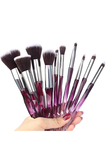 Queen Thangs 10-Piece Makeup Brush Set - Purple & Black