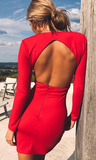 Say My Name Backless Dress - Red