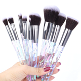 Queen Thangs 10-Piece Makeup Brush Set - Opal & Black