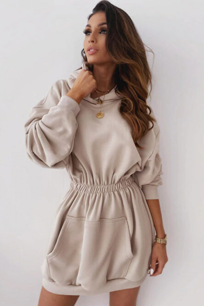 Ariel Sweater Dress - Beige
