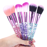 Stay Queening 7-Piece Makeup Brush Set - Pink