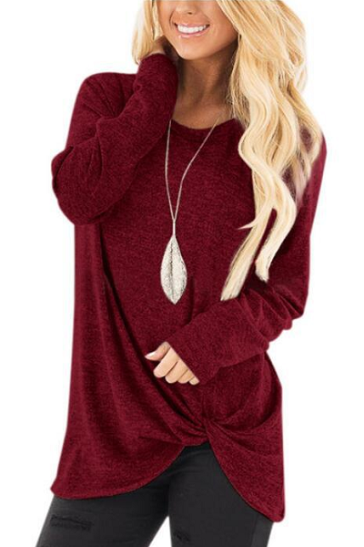 Hype Me Up Sweater - Burgundy