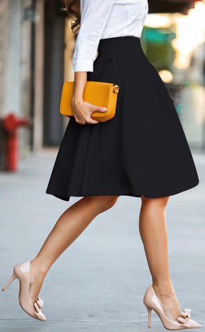 Need One Dance Fit & Flare Skirt - Black