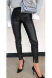 To the Edge Faux Leather Pants - Black