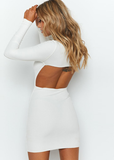 Way Too Fly Backless Dress - White