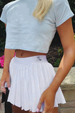 Bad Intentions Skirt - White