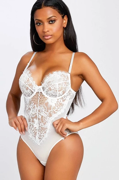 Dollface Bodysuit - White