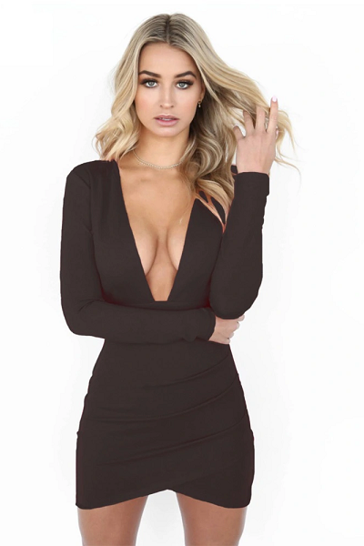 Say My Name Backless Dress - Black