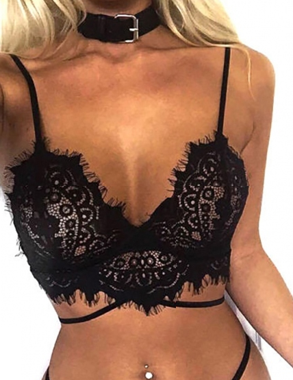 Stay Gorgeous Bralette - Black - flyqueens