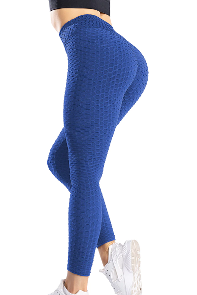 Peach Perfection Leggings - Blue