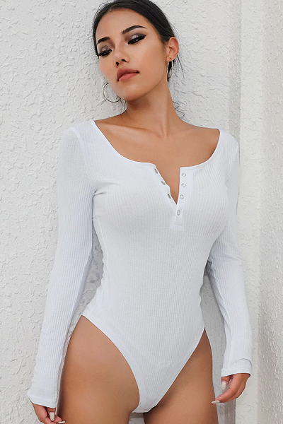 Play Bae Bodysuit - White - flyqueens